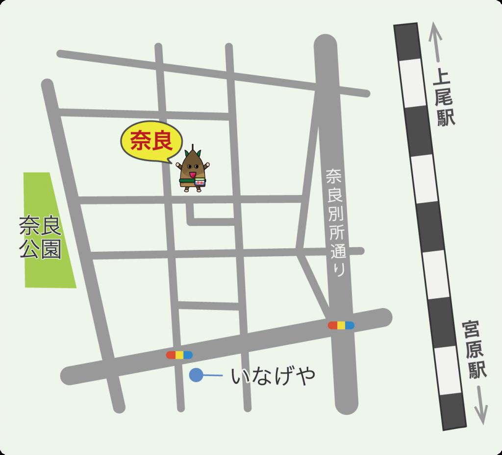 キッズスペース奈良の地図